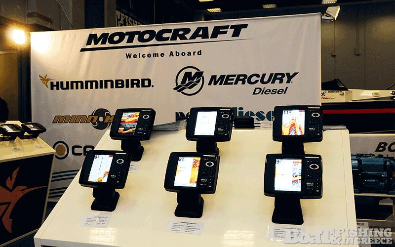 Η εταιρεία MOTOCRAFT µε τα πασίγνωστα Humminbird (βυθόµετρα, GPS, Radar, Autopilot) (φωτ. 1).