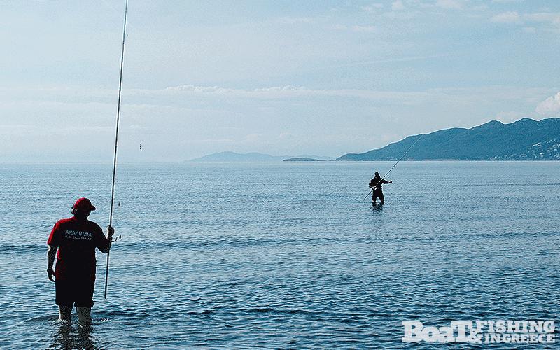 Η ρηχή τράπεζα επέτρεπε στους αθλητές να περπατήσουν αρκετά µέτρα µέσα στο νερό.