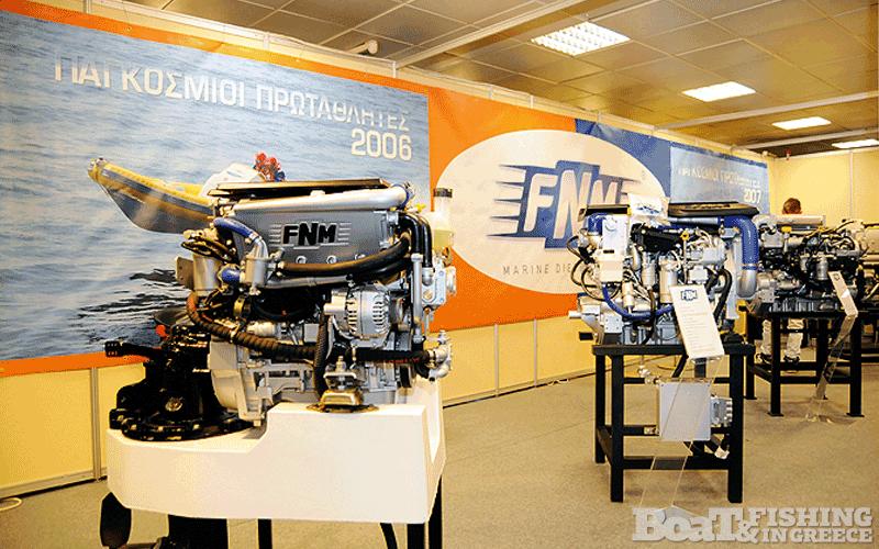 Η εταιρία FNM Marine παρουσίασε τους νέους πετρελαιοκινητήρες κινητήρες της ιταλικής φίρµας (φωτ. 3).