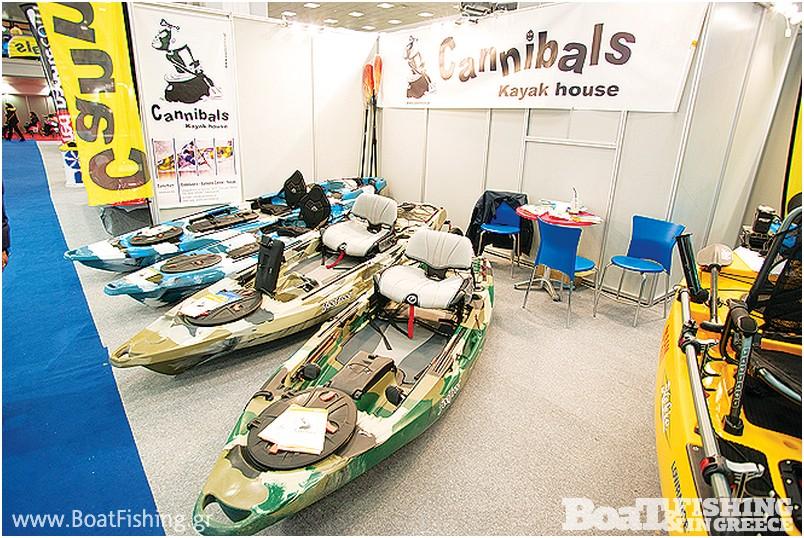 CANNIBALS: Με διπλό περίπτερο, παρουσιάζοντας τα Hobie kayak αλλά και µια µεγάλη γκάµα καγιάκ για ψάρεµα και αναψυχή