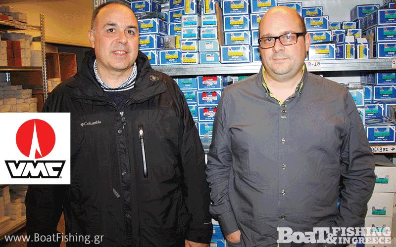 Ο κ. Σωκράτης Καμιναράς (αριστερά) εκπρόσωπος της VMC, μαζί με τον κ. David Rosse διευθυντή πωλήσεων της VMC Ευρώπης.